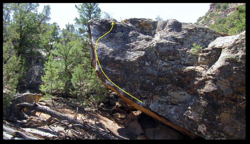 Rock Climbing Photo: Awoman problem beta.