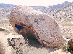 Rock Climbing Photo: Working Hero Roof. Sweet V0!!