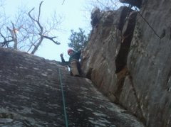Rock Climbing Photo: Top of Poison Ivy on a January climb