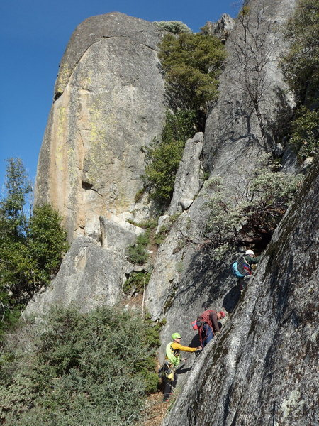 Rock Climbing Photo: Getting close to the start when you see the golden...
