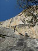 Rock Climbing Photo: It follows that beautiful curving corner way up th...