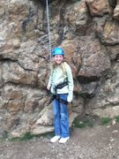 Rock Climbing Photo: Baileys first out door climb