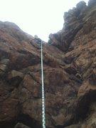 Rock Climbing Photo: David at the top
