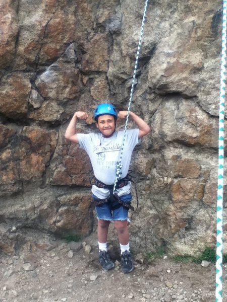 Rock Climbing Photo: Jesses first out door climb