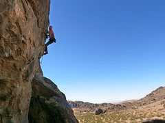 Rock Climbing Photo: Jason high above it all on Backside Arete (5.11d),...