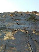 Rock Climbing Photo: Contemplating the crux