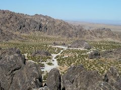 Rock Climbing Photo: A distant view of the Entrance Area Crags, NJC