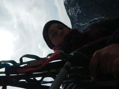 Rock Climbing Photo: jugging first pitch on lost arrow spire