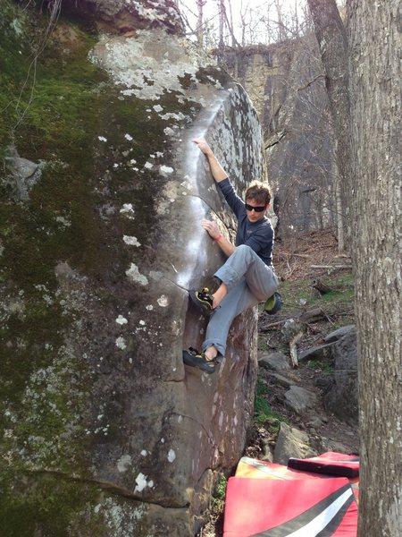 Rock Climbing Photo: Starting up Momento!