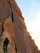 Rock Climbing Photo: going to the 2nd anchor..