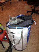 Belchik tests the new haul bag.