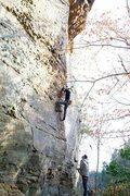 Rock Climbing Photo: lower section on suppress
