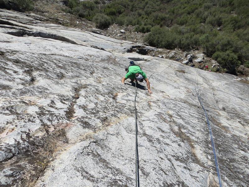 Rock Climbing Photo: Josh following Machine Gun Jubblies