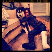 me, my dog, and 2 broken legs
