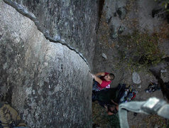 Rock Climbing Photo: Kent Schmitz on, Stairway Crack.5.11c