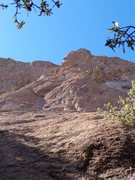 Rock Climbing Photo: This picture shows the entire route, notice the bo...