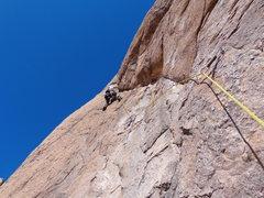 Rock Climbing Photo: Brian on P-3