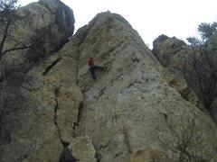 Rock Climbing Photo: Jamie on Legend Of T.