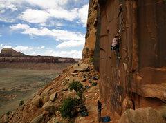 Rock Climbing Photo: Painful ringlocking after ironically slicing my pi...