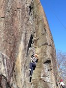 Rock Climbing Photo: A nice angle (but unfortunately blown out iphone p...