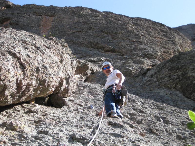 Rock Climbing Photo: 29-Jan-2012: Steve Rathbun leading Twinkle Toes Tr...