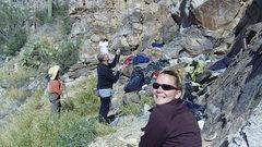 Rock Climbing Photo: Busy day at Shed with La Tigrita.