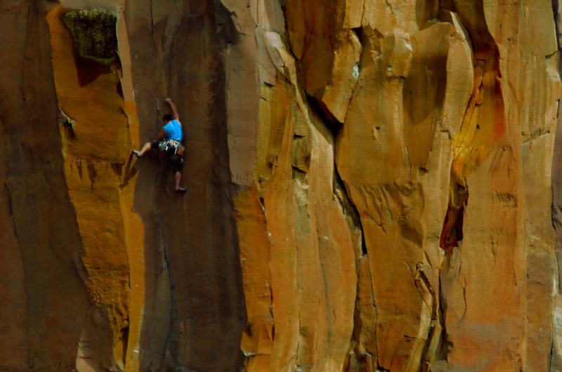 Rock Climbing Photo: Mike Barroso working through the moves