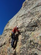 Rock Climbing Photo: B. Scott checking out the moves before installing ...