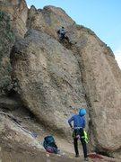 Rock Climbing Photo: 1st pitch, Wherever I May Roam 5.9