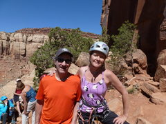 Rock Climbing Photo: angela et mois