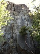 Rock Climbing Photo: We started the climb in these 5.8 hand cracks. 45 ...