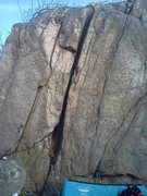 Rock Climbing Photo: A wide fist crack.