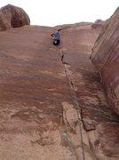Rock Climbing Photo: Kristina on Slaughterfist.