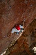 Rock Climbing Photo: Starting the crux.   Photo: Ben I.