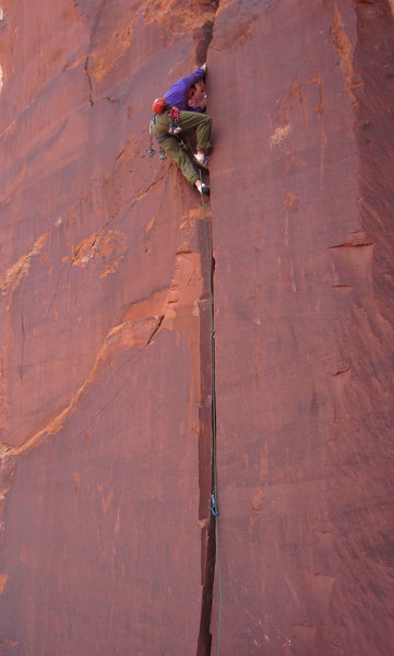 Rock Climbing Photo: Starting up the route some 17 years after the last...