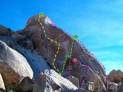 Rock Climbing Photo: Beta Photo Yellow=Compromised