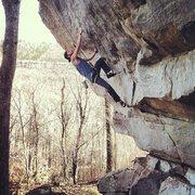 Rock Climbing Photo: Spenser Wilson Bolte attempting Quantum Leap on TR...