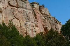 Rock Climbing Photo: Travis afterburning.