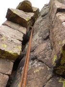 Rock Climbing Photo: A close up of the main crack.