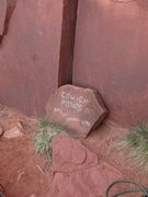 Rock Climbing Photo: I cleaned my old plaque up a bit and worked out a ...