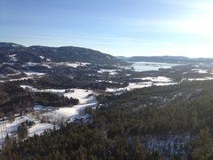 Rock Climbing Photo: View from the top of Borgaråsnatten