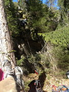 Rock Climbing Photo: Cleaning the route before an attempt at a ground u...