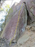 Rock Climbing Photo: The right edge of the Weisner Slab
