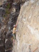 Rock Climbing Photo: Cory sizes up Got a Habit Like a Rabbit, 5.10 b/c