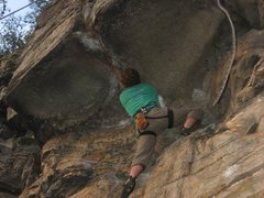 Rock Climbing Photo: Roof of Oscar Myer, and no, that's not a snake...