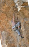 Rock Climbing Photo: Start of the business... in the alcove on Brokehol...