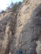Rock Climbing Photo: Climbers enjoying the New Rabbit Routes at The Bun...