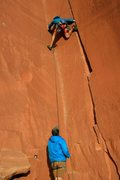 Rock Climbing Photo: One of the best climbs of the trip! notice the bla...