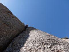 Rock Climbing Photo: Starting up Garbanzo Bean, photo by Peter.