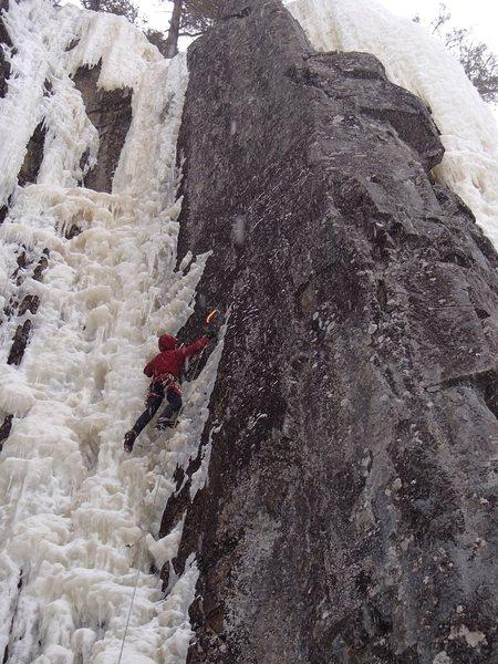 Rock Climbing Photo: Got the first bolt . . . the first few rock moves ...